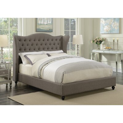 Greig Upholstered Panel Bed Size: California King, Color: Light Gray