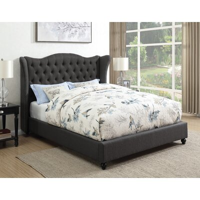 Greig Upholstered Panel Bed Size: California King, Color: Slate Gray