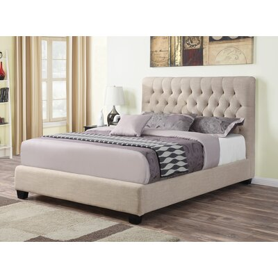 Christen Upholstered Panel Bed Size: Queen, Color: Oatmeal