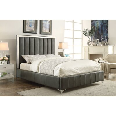 Molly Upholstered Panel Bed Size: California King