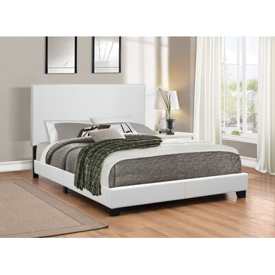 Winburn Upholstered Panel Bed Size: Full, Color: White