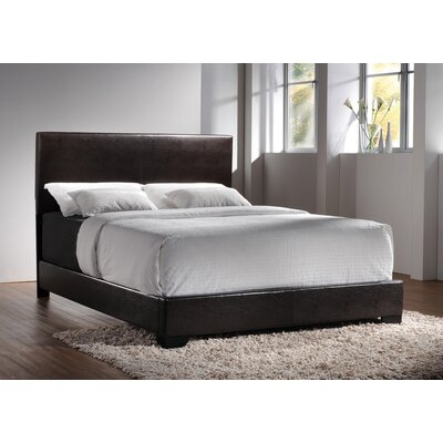 Braedyn Upholstered Panel Bed Size: Full, Color: Black