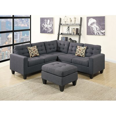 Moores Sectional with Ottoman Upholstery: Gray