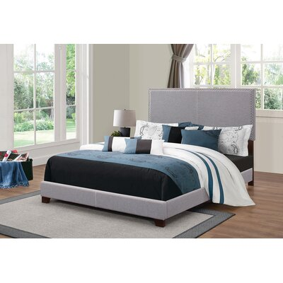Kachinsky Upholstered Panel Bed Size: Twin, Color: Gray
