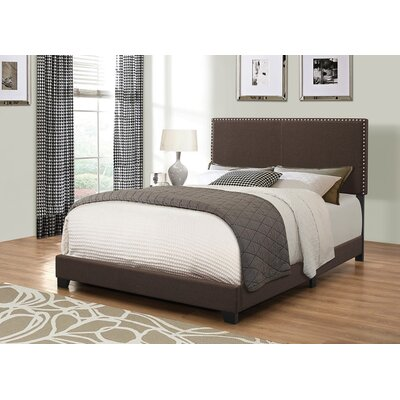 Kachinsky Upholstered Panel Bed Size: Queen, Color: Brown
