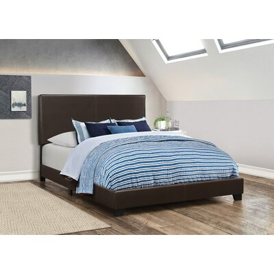 Fenagh Upholstered Panel Bed Size: Queen, Color: Brown
