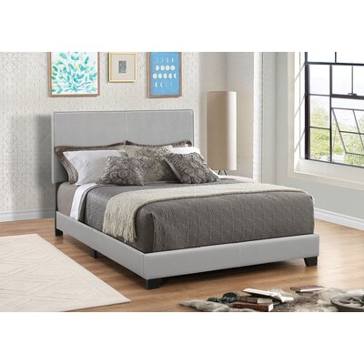 Fenagh Upholstered Panel Bed Size: California King, Color: Gray