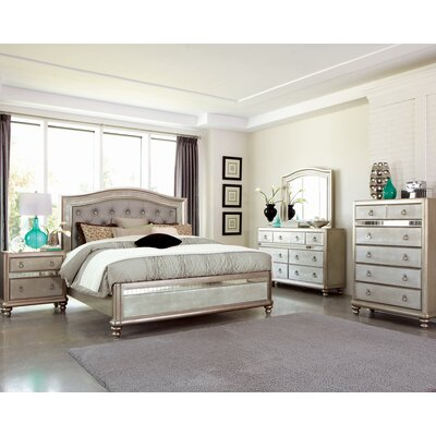 Hackett Upholstered Storage Panel Bed Size: California King