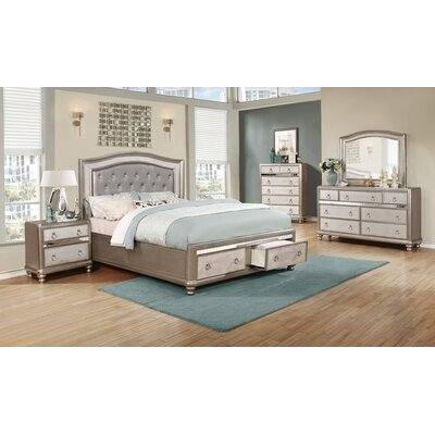 Hackmore Upholstered Storage Panel Bed Size: Eastern King