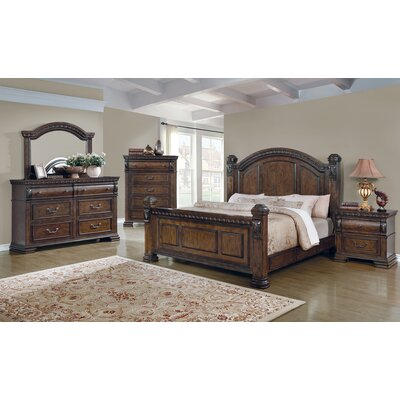 Brock Storage Panel Bed Size: California King