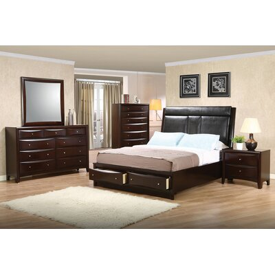 Crowther Upholstered Storage Platform Bed Size: California King