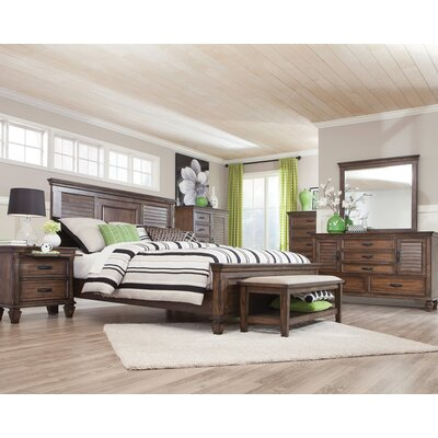 Shirlee Storage Panel Bed Size: California King