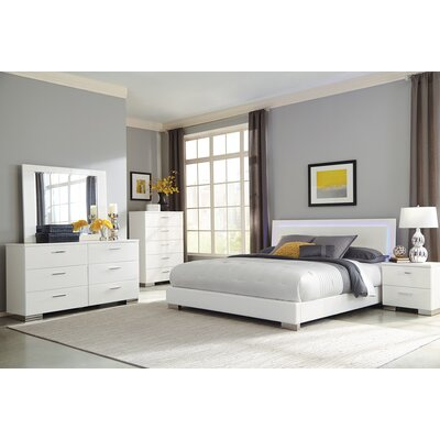 Reger Storage Panel Bed Size: California King