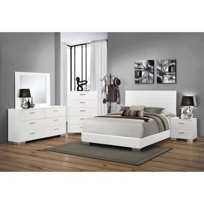 Regil Storage Panel Bed Size: California King