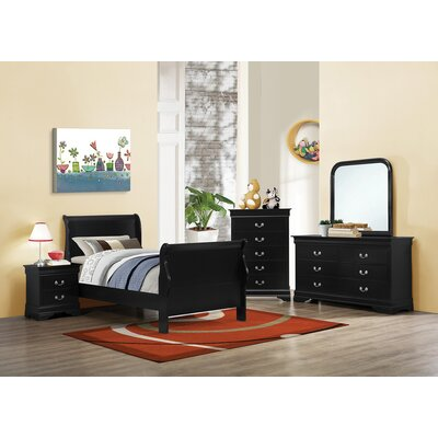 Cruse Sleigh Bed Size: Queen