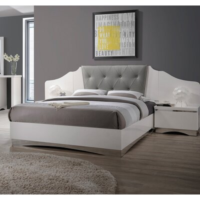 Ledet Upholstered Panel Bed Size: Queen