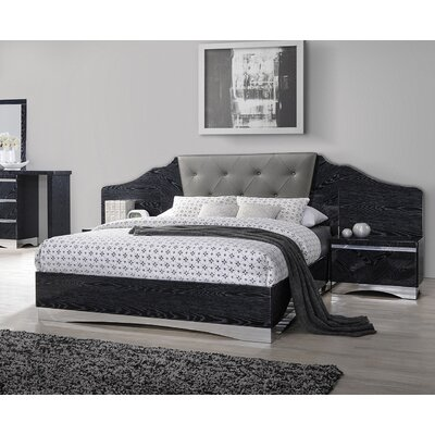 Grieve Upholstered Panel Bed Size: King