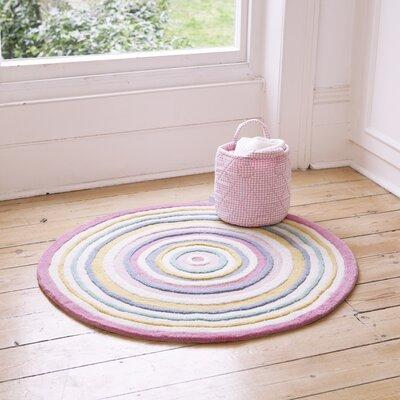 Round Pink/Beige Area Rug