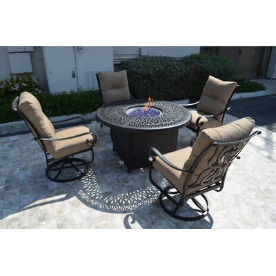 Florence 5 Piece Rocker Seating Group with Cushion