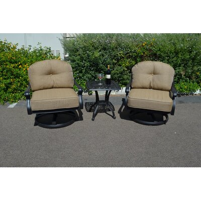 Elizabeth 3 Piece Rocker Seating Group with Cushion