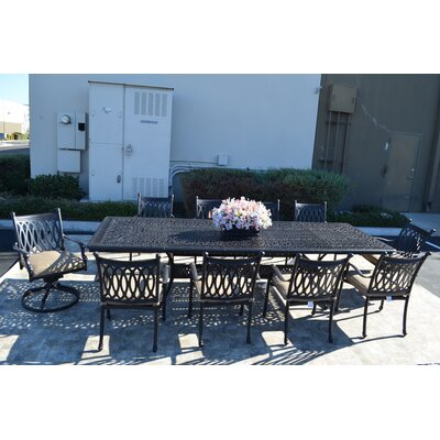 Grand Tuscany 11 Piece Dining Set with Cushions