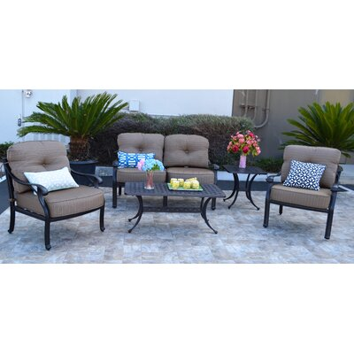 Nola 5 Piece Deep Seating Group with Cushion