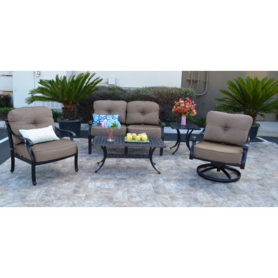 Nola 5 Piece Deep Seating Group with Sunbrella Cushion