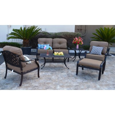Nola 6 Piece Deep Seating Group with Sunbrella Cushion