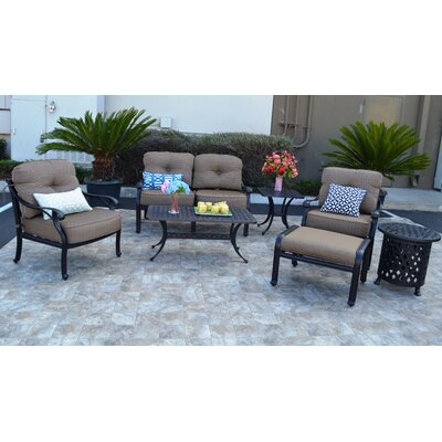 Nola 7 Piece Deep Seating Group with Sunbrella Cushion