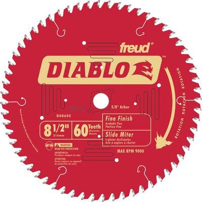 """Freud 8-1/2"""" 60T Diablo? Fine Finish Work Miter/Slide Miter Saw Bl  D0860S at Sears.com"""