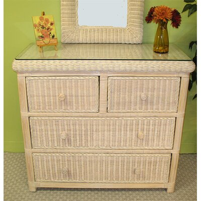 Pavilion 4 Drawer Dresser Color: Whitewash