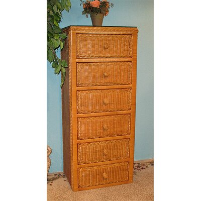 6 Drawer Lingerie Chest Color: Caramel