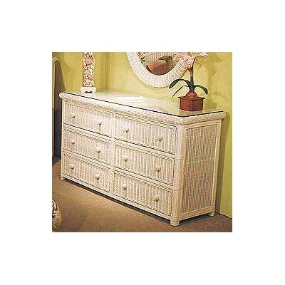 Pavilion 6 Drawer Double Dresser Color: Whitewash