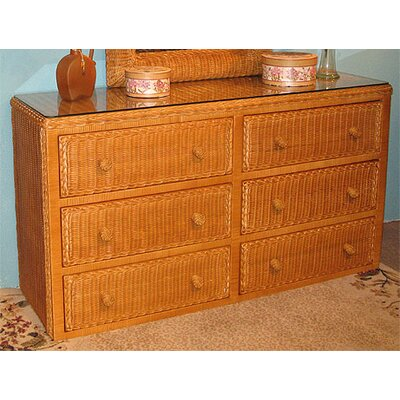 6 Drawer Double Dresser Color: Caramel