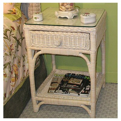 Diamond 1 Drawer Nightstand Color: Whitewash