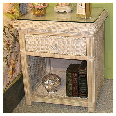 Pavilion 1 Drawer Nightstand Finish: Whitewash