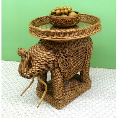 Elephant End Table Color: Teawash
