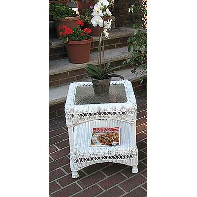 Belaire Side Table Color: White