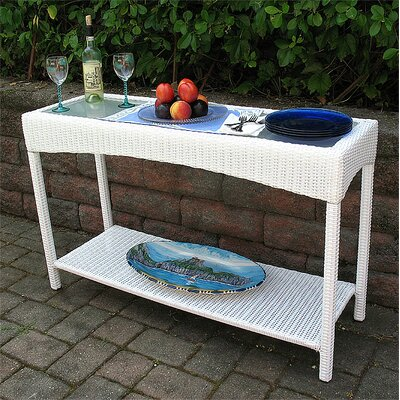 Caribbean Console Table Finish: White