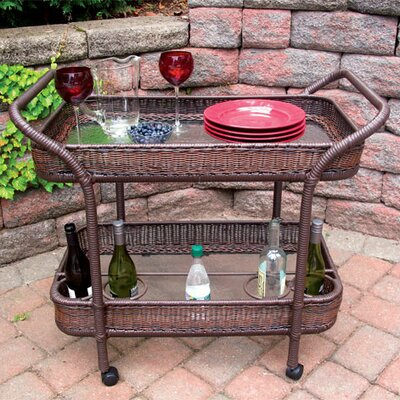 Mobile Bar Serving Cart Finish: Antique Brown