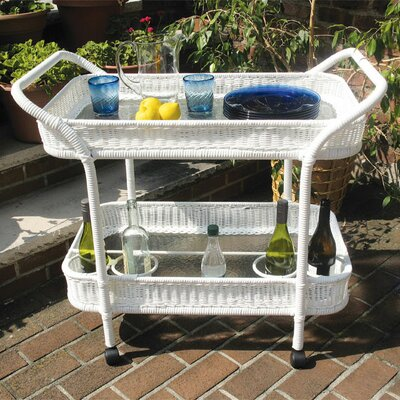 Mobile Bar Serving Cart Finish: White
