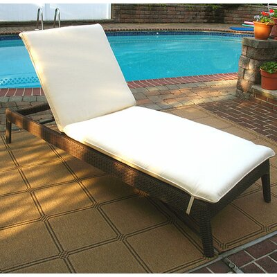 Caribbean Chaise Lounge with Cushion Finish: Coffee Brown