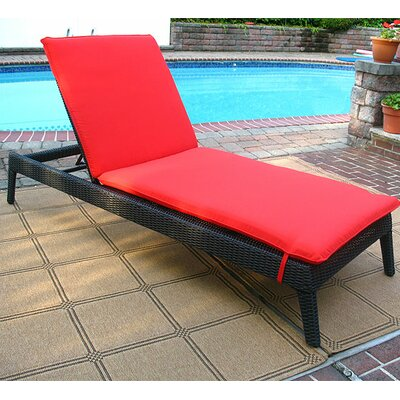 Caribbean Chaise Lounge with Cushion Finish: Black
