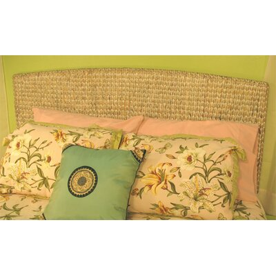 Water Hyacinth Seagrass Panel Headboard Color: Whitewash