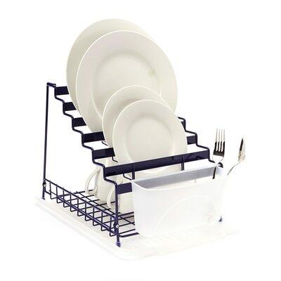 Medium Multilevel Organizer Dish Rack Color: Blue