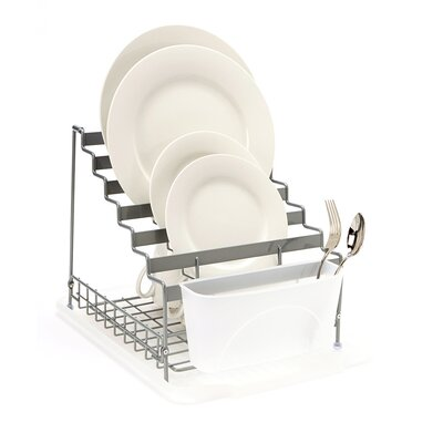 Medium Multilevel Organizer Dish Rack Color: Grey