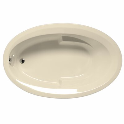 Carolina 72 x 42 Soaking Bathtub Color: Biscuit