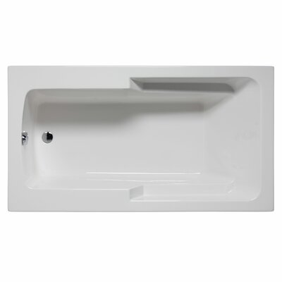 Coronado 72 x 42 Soaking Bathtub Color: White