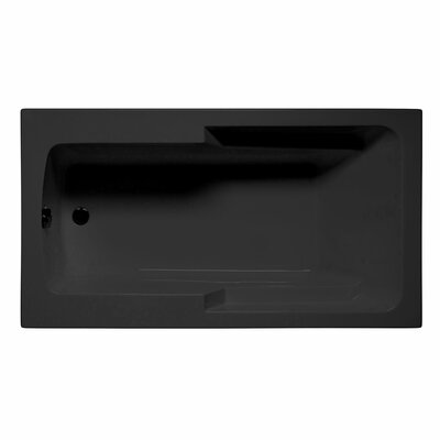 Coronado 72 x 36 Soaking Bathtub Color: Black