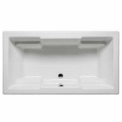 Laguna 60 x 42 Whirlpool and Air Jet Bathtub Color: White